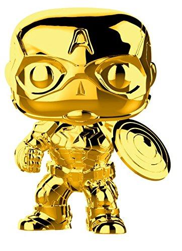 Funko Pop Marvel: Marvel Studios 10 - Captain America (Gold Chrome) Collectible Figure, Multicolor 33515