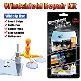 Manelord Car Windshield Repair Kit, Do it Yourself Windshield Repair Kit with Windshield Repair Resin for Repairing Auto Glass Windshield Crack Chips, Bulls-Eye, Spider Web, Star-Shaped, Half-Moon