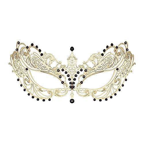WINK KANGAROO Women's Laser Cut Metal Venetian Masquerade Crown Mask (Classic Style, - Venetian Crown