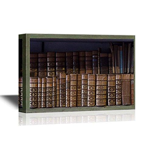 Artwork with Bookshelf and Books