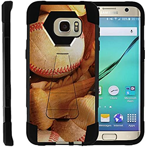 Samsung Galaxy S7 Edge | Dual Layer Hard Rubber Phone Case with Kickstand Baseball Series, by Miniturtle - Contact Bat #3 Sales