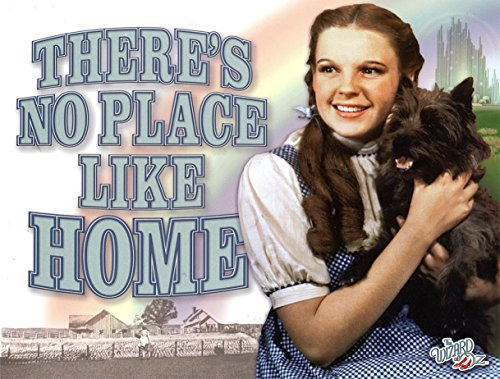 WIZARD OF OZ ALUMINUM METAL SIGN - THERE'S NO PLACE LIKE HOME - HIGH QUALITY ALUMINUM (Bad Witch Tin Sign)
