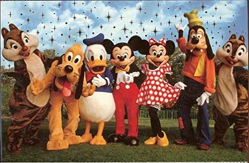WDW Postcard Set - Theme Park Characters - 10 Pk