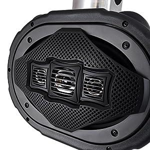 Four-way Marine Wakeboard Tower Speaker - 6x9 Inch 300 Watt Mid Range Audio Weatherproof Marine Grade Boat Sound System - Lanzar AQWB69B (Black)