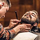 Professional Barber Straight Edge Razor Safety with 100-Pack Derby Blades - 100 Percent Stainless Steel - by Utopia Care
