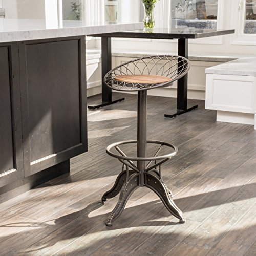 Grayson Weathered Wood Barstool by Christopher Knight Home