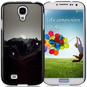 S4 Cover Case,Saugen Etude Illust Art Black Personalized Cool Design Samsung Galaxy S4 Case