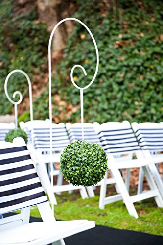 Leaf Ball Topiary (One 6 Inch Artificial Topiary Long Leaf Boxwood Ball Shrub orb pomander Indoor Outdoor Plan (6