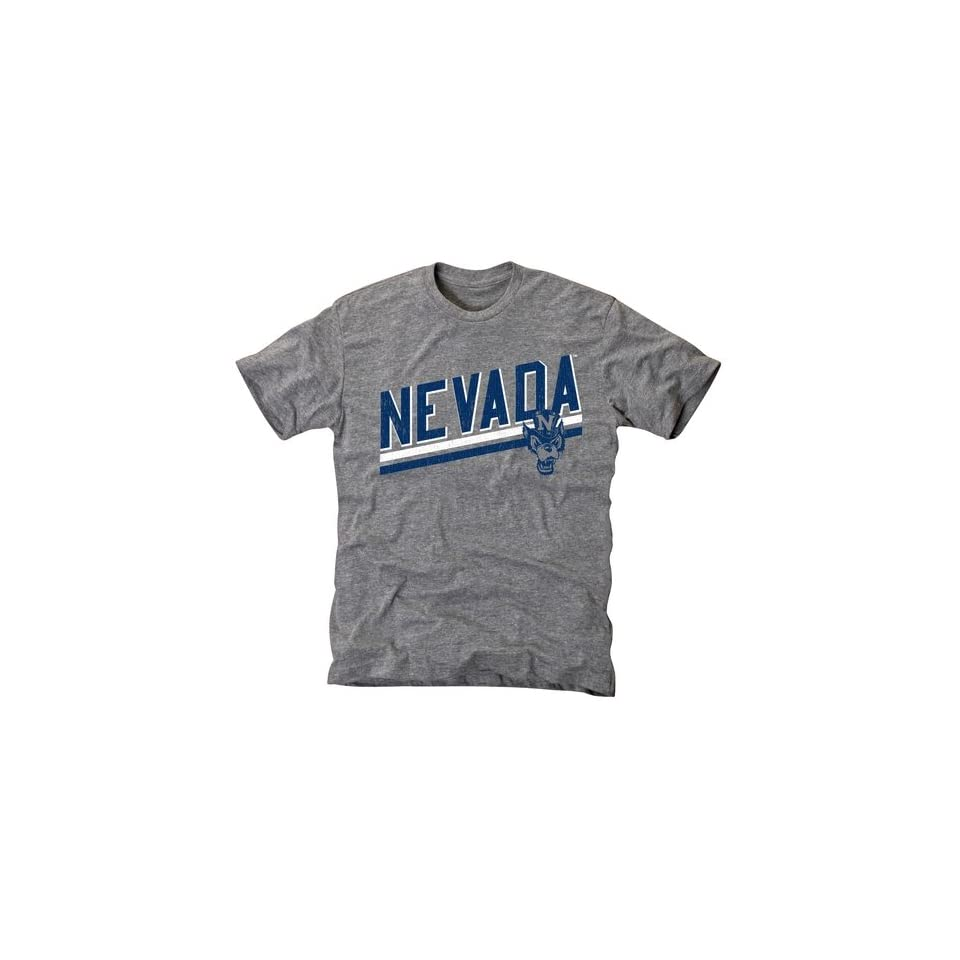 Nevada Wolf Pack Rising Bar Tri Blend T Shirt   Ash