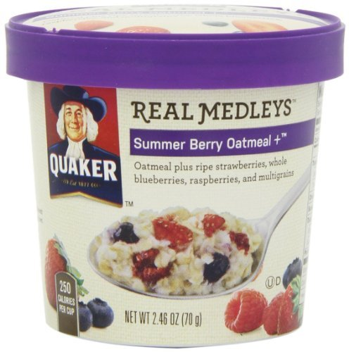 Quaker Real Medleys Summer Berry Oatmeal 2.46 Oz. (Pack of 5) by Quaker