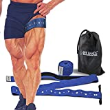 BFR BANDS QUAD Wrap Occlusion Training Bands For Legs & Calves, 3 Inch Wide BLUE Knee Wrap Style Bands, Blood Flow Restriction Bands Give Lean & Fast Muscle Growth without Lifting Heavy Weights For Sale