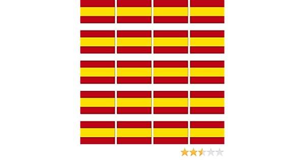 20 unidades de 3 cm de la bandera de España modelo RC Mini adhesivos Modelo bauauf adhesivo: Amazon.es: Juguetes y juegos