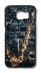 Brian114 Case, S6 Case, Samsung Galaxy S6 Case Cover, City Night 3 Retro Protective Hard PC Back Case for S6 ( Black )