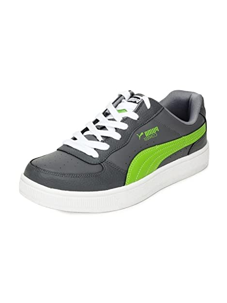 40aa1125df0e30 Puma Men s Contest Lo Ind. Steeple Gray and Macaw Green Synthetic Boat Shoes  - 11
