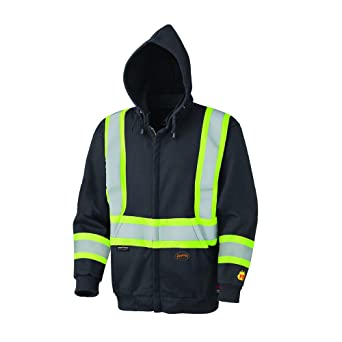 07ebc69c2e7 Amazon.com  Pioneer V2570470U Hi-Vis Flame Resistant Zip-Style Heavyweight  Cotton Safety Hoodie - Black (2XL)  Industrial   Scientific