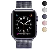 Eazco Stainless Steel Mesh Milanese Loop with Adjustable Strong Magnetic Closure Replacement Metal Band for 2017 New Watch Series 3/2/1 Nike+ Sport and Edition (42MM Space Gray)