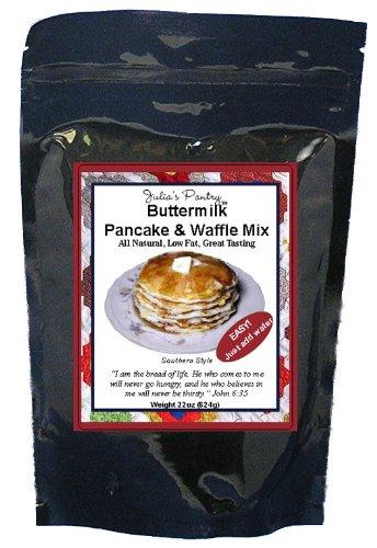 Buttermilk Pancake & Waffle Mix, 18oz Mylar Bag by Julia's Pantry