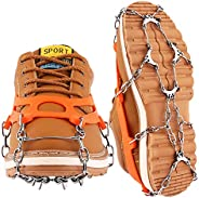 Cutiful Traction Cleats Crampons Ice Snow Cleats Ice Grips Grippers Microspikes Men Women Boots Shoes Spikes Walking Camping