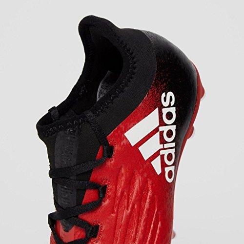 adidas X 16.1 FG J - Botas de fútbolpara niños, Rojo - (ROJO/FTWBLA/NEGBAS), -31