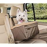 Solvit PetSafe Tagalong Asiento Elevador para Mascotas, estándar, Asiento Elevador para Perros, para Coches, Camiones y SUV, Bronceado, Up to 25 LB.