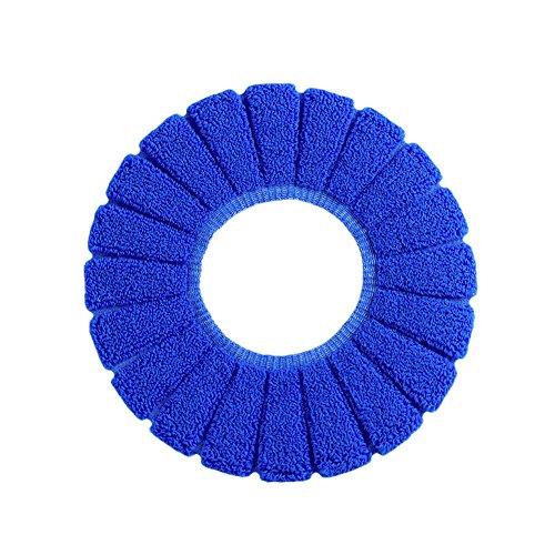 Pinleg Toilet Seat Cover Modern Comfortable Velvet Coral Standard Pumpkin Pattern Cushion Soft Washable Toilet Seat Cover Pads Toilet (Blue) by Pinleg (Image #4)