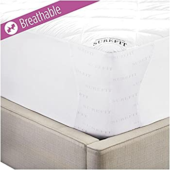 Sure Fit Deluxe Memory Foam Mattress Pad, Full, White