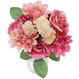Artificial Flowers Arrangements Arts-Crafts Silk Flowers for Wedding Bouquets Garden Home Party Spring Wedding Decoration Mariage Fake Flower 8 Head 51