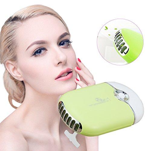 Portable USB Mini Fan Air Conditioning Blower for Eyelash Extension Beauty Salon Tool(Green)