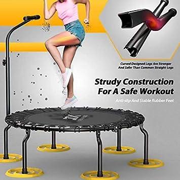 Spa/ß f/ür Erwachsene und Kinder Indoor Outdoor Jumping Fitness Trampolin 40Zoll Faltbar Rebounder f/ür K/örpertraining und Cardio Workout 3-fach h/öhenverstellbarer Haltegriff leistungsstark bis 120 kg Benutzergewicht