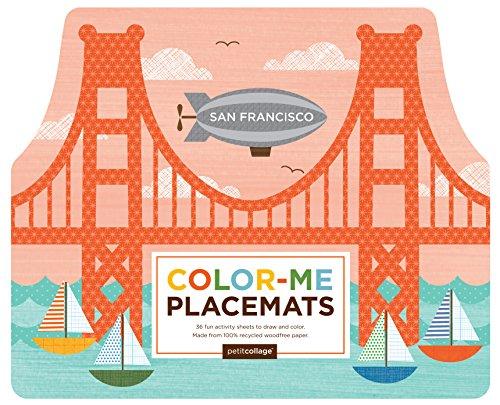 Petit Collage Color Me Placemats, San Francisco