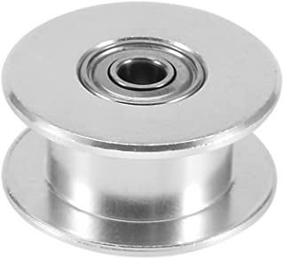 sourcingmap Aluminum GT2 16T 3mm Bore Timing Belt Idler Pulley Flange with Ball Bearings for 3D Printer