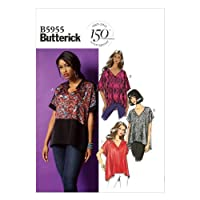 Butterick Patterns 5955 Misses Tops with Hem and Sleeve Variations Sizes LRG-XLG-XXL