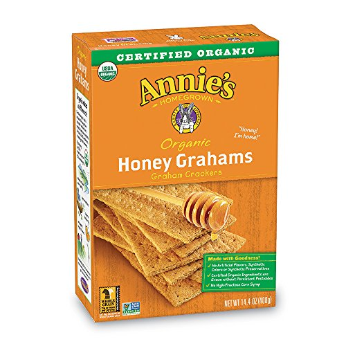 Annie's Organic Honey Graham Cracker Bricks 14.4 oz (Pack of 4)