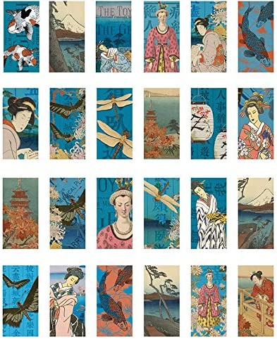 Enamel 3 Different Size Sheet or Glass Fusing Decals Ceramic Decal Asian Collage Rectangle 46112 Enamel Decal to Choose from Images Choose Either Ceramic Waterslide Decal Glass Decal