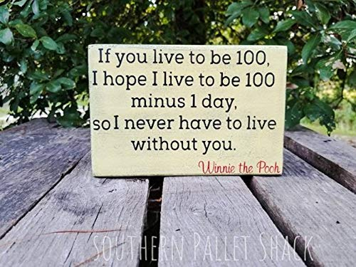 Amazoncom If You Live To Be 100 Winnie The Pooh Quote Pooh