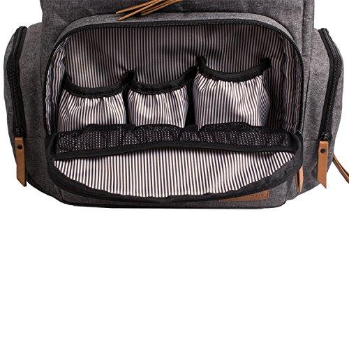 ALLCAMP mochila multifunción grande del panal, con la estera cambiante