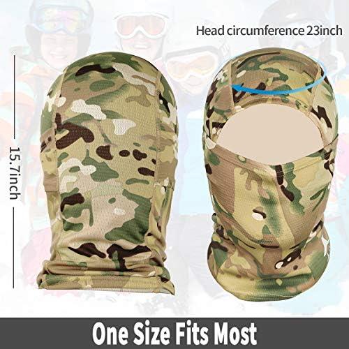 Achiou Balaclava Face Mask UV Protection for Men Women Sun Hood Tactical ski 5