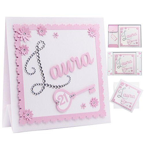Personalised 21st Birthday Card Any Age The First Letter Of Any