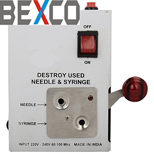 Top Quality Heavy Duty Electric Needle and syringe Destroyer / Cutter DHL Express Shipping by BEXCO