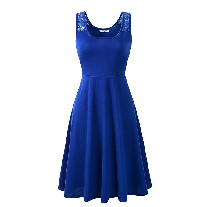 5a1fe8e0896 ZENboo Women Sleeveless Loose Casual Dress Flared Tank A-line Midi Dress  2018 Summer(