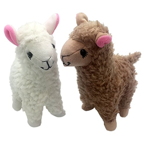Maggift 2pcs 9inch Plush Stuffed Alpaca Doll Toys