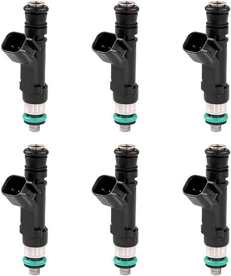 Set 6 Fuel Injectors For Jeep Dodge Mitsubishi 3.7L Vehicles 0280158020