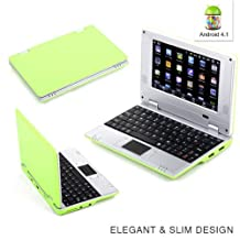 """Goldengulf 7"""" Inch Latest Green 4.1 JellyBean Mini Android Computer Laptop NoteBook PC NetBook Wifi Best gift for Children"""