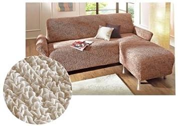 GAICO Stretch Husse Ottomane Sofauberwurf Sofa Couch Staubschutz Uberwurf Beige