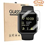 NOKEA Screen Protector for Apple Watch (38mm Series 3 / 2 / 1), Ultra-clear 0.3mm 9H Hardness Tempered Glass Easy Bubble-Free Installation (1 Pack)