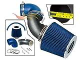 R&L Racing MATTE BLACK PIPE BLUE - SHORT RAM INTAKE