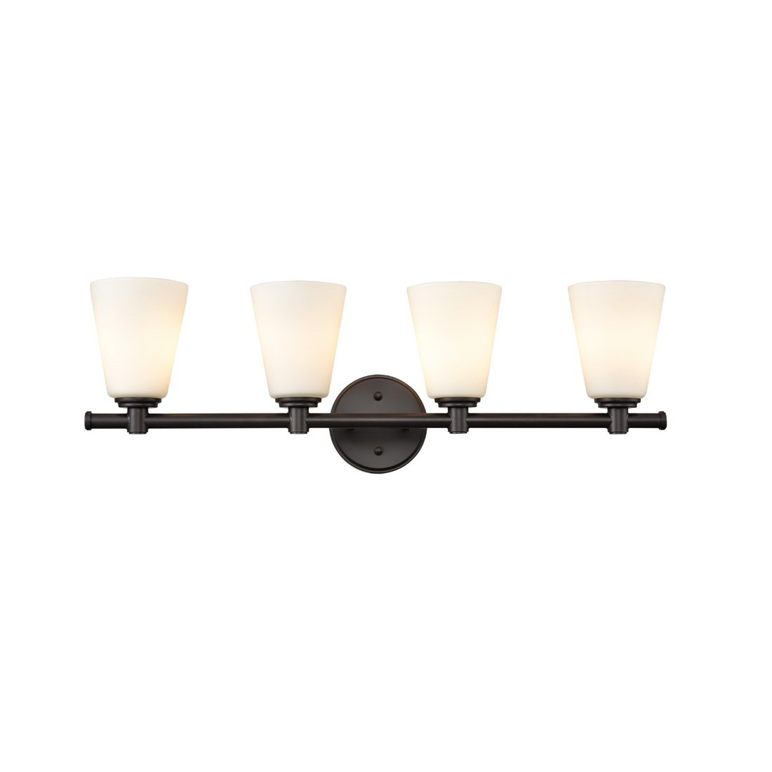 AXILAND Vanity Lighting 4 Light Oil Rubbed Bronze Wall Sconce with Opal Glass Shade
