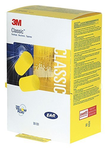 Ear Plugs, 29dB, Yellow, Cylinder, Box, PK500 by 3M