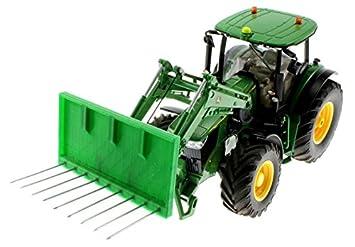 Silagegabel für siku control traktoren mit frontlader grün