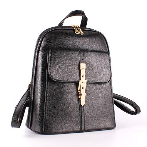 per moda PU La pelle viaggio in Ezeso ragazze a Zaino tracolla borsa donna nera da xBgfn